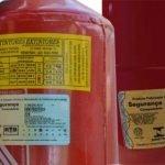 Extintor de incêndio rotulo selo