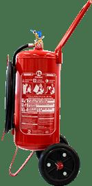 Extintor de incêndio sobre rodas pó químico abc 20 kg