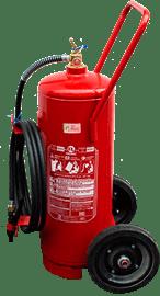 Extintor de incêndio sobre rodas pó químico abc 30 kg