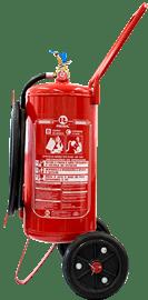 Extintor de incêndio sobre rodas pó químico bc 20 kg