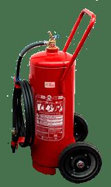 Extintor de incêndio sobre rodas pó químico bc 50 kg